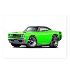 1969 Super Bee Lime-Black Car Postcards (Package o