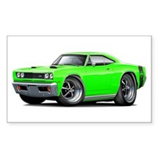 1969 Super Bee Lime Car Decal