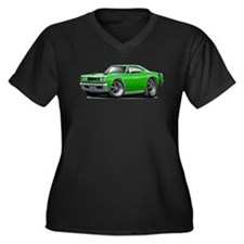 1969 Super Bee Green Car Women's Plus Size V-Neck