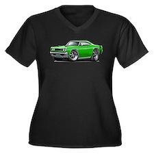 1969 Super Bee Green Car Women's Plus Size V-Neck