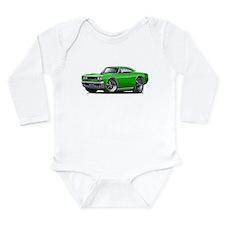 1969 Super Bee Green Car Long Sleeve Infant Bodysu