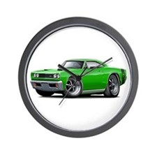 1969 Super Bee Green Car Wall Clock