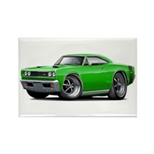 1969 Super Bee Green Car Rectangle Magnet