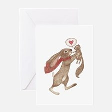 some bunny loves me Greeting Card