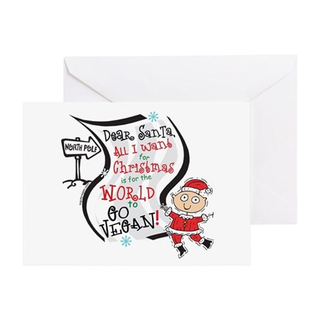 Vegan Christmas Wish Greeting Card