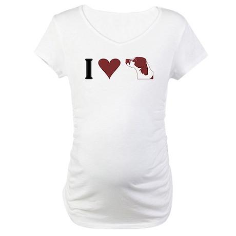 I Heart IRWS Maternity T-Shirt