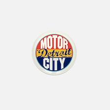 Detroit Vintage Label Mini Button