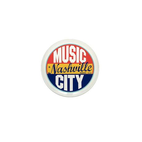 Nashville Vintage Label Mini Button