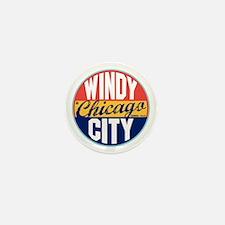 Chicago Vintage Label Mini Button