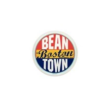 Boston Vintage Label Mini Button