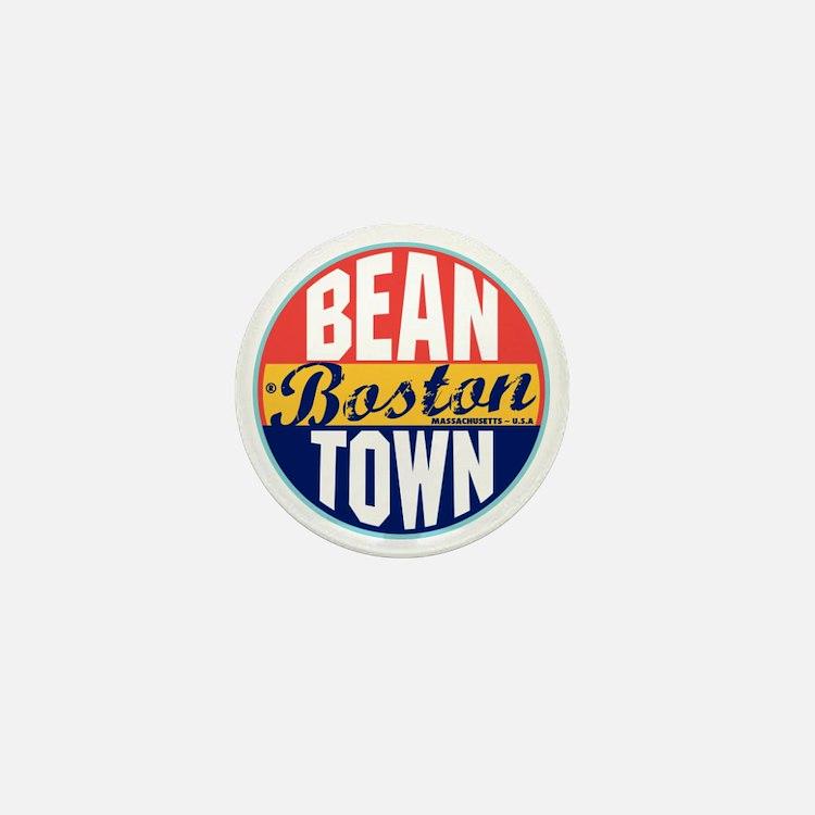 Boston Vintage Label Mini Button
