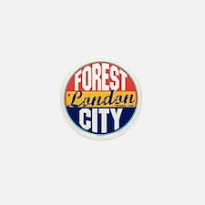 London Vintage Label Mini Button