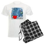 I Love Justin Men's Light Pajamas