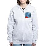 I Love Justin Women's Zip Hoodie