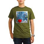 I Love Justin Organic Men's T-Shirt (dark)