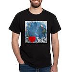 I Love Justin Dark T-Shirt