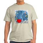 I Love Justin Light T-Shirt