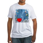 I Love Justin Fitted T-Shirt