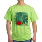 I Love Justin Green T-Shirt