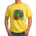 I Love Justin Yellow T-Shirt