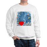I Love Justin Sweatshirt