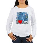 I Love Justin Women's Long Sleeve T-Shirt