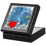 I Love Justin Keepsake Box