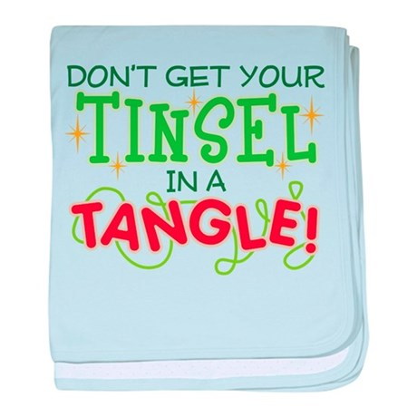 TINSEL IN A TANGLE baby blanket