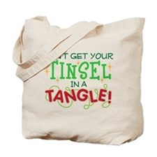 TINSEL IN A TANGLE Tote Bag