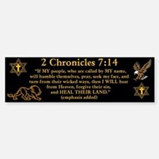 2 Chr 7:14 Lion - Bumper Bumper Sticker