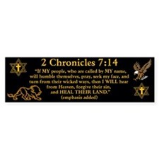 2 Chr 7:14 Lion - Bumper Sticker