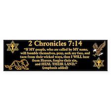 2 Chr 7:14 Lion - Bumper Sticker