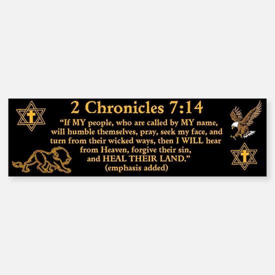 2 Chr 7:14 Lion - Sticker (Bumper)