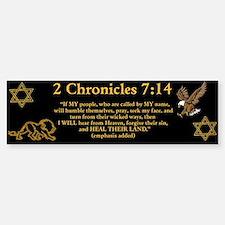 2 Chr 7:14 Lion - Bumper Bumper Sticker