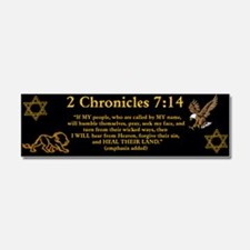 2 Chr 7:14 Lion - Car Magnet 10 x 3