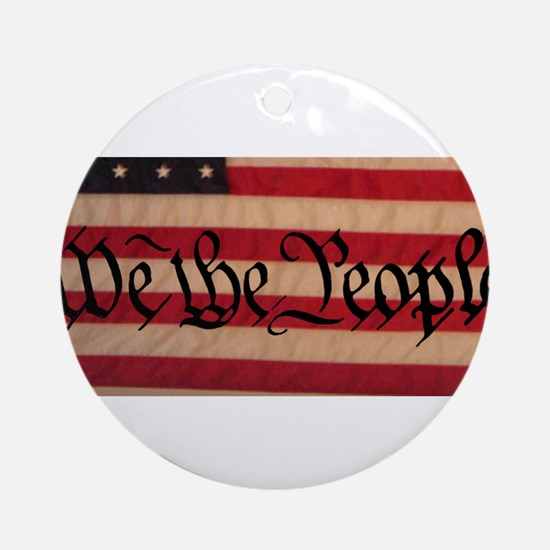 WE THE PEOPLE III Ornament (Round)