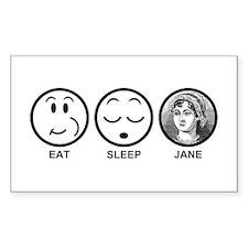 Eat Sleep Jane Decal