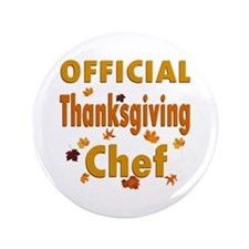"Thanksgiving Chef 3.5"" Button"