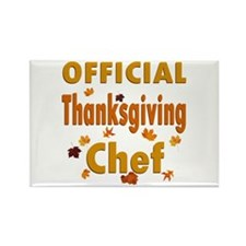 Thanksgiving Chef Rectangle Magnet
