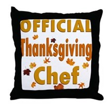 Thanksgiving Chef Throw Pillow