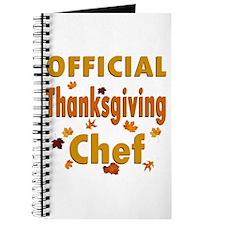 Thanksgiving Chef Journal