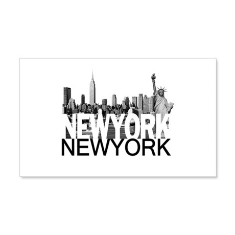 New York Skyline 22x14 Wall Peel