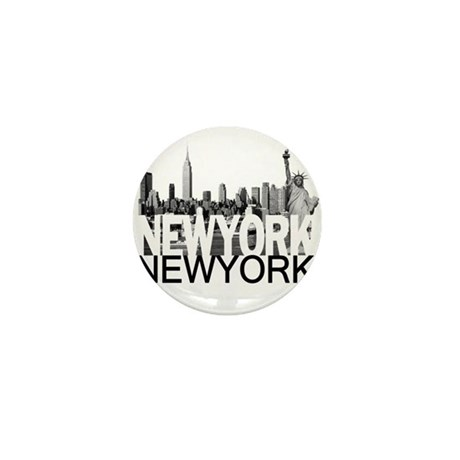 New York Skyline Mini Button (10 pack)