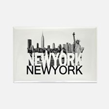 New York Skyline Rectangle Magnet (10 pack)