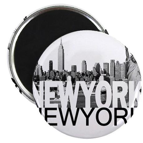 """New York Skyline 2.25"""" Magnet (100 pack)"""