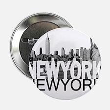 """New York Skyline 2.25"""" Button"""