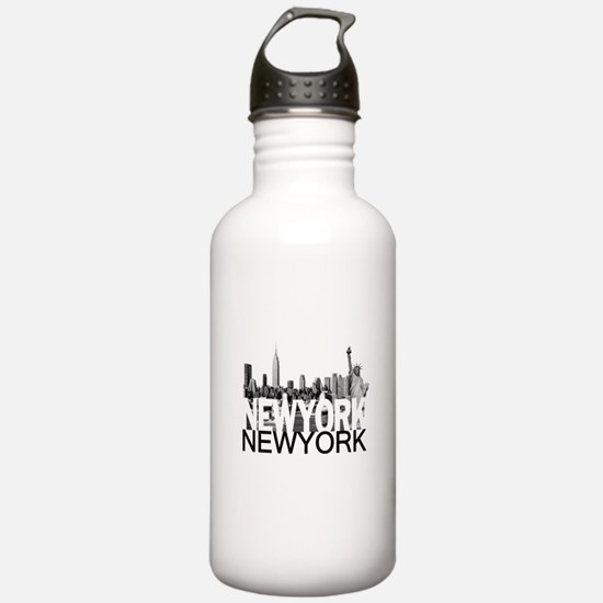 New York Skyline Water Bottle