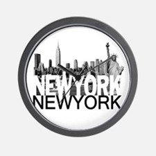New York Skyline Wall Clock