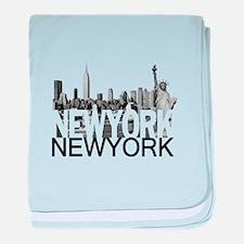 New York Skyline baby blanket