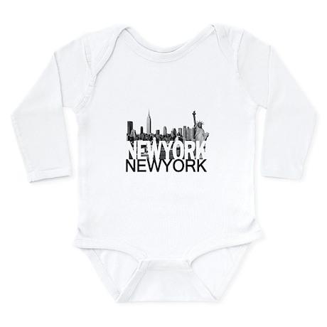 New York Skyline Long Sleeve Infant Bodysuit
